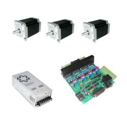 KIT elettronica per pantografo CNC con scheda elettronica 4 assi e 3 motori 1,8 Nm MADE IN ITALY- complete Kit for CNC